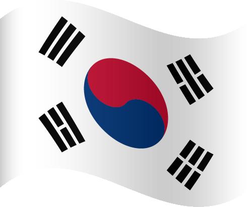 Vector flag of South Korea - Waving