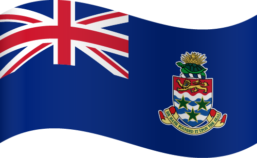 Vector flag of the Cayman Islands - Waving