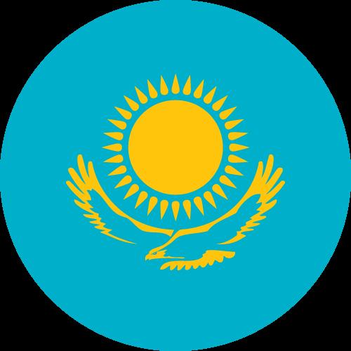 Vector flag of Kazakhstan - Circle