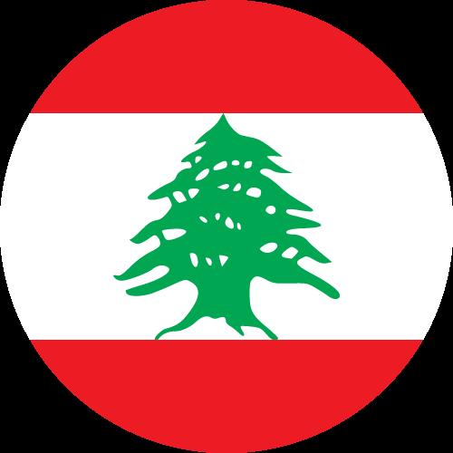 Vector flag of Lebanon - Circle