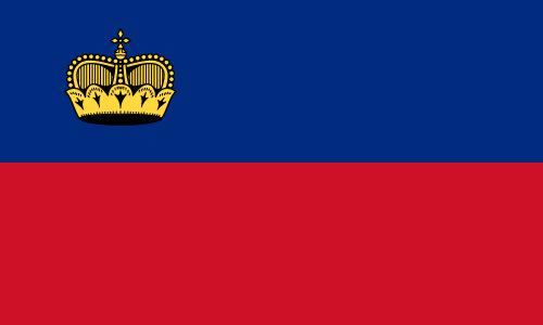 Vector flag of Liechtenstein