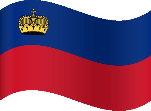 Vector flag of Liechtenstein - Waving