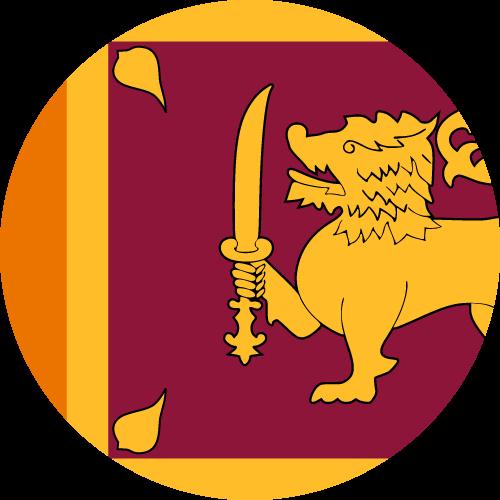 Vector flag of Sri Lanka - Circle