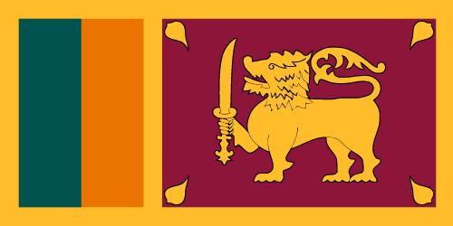 Vector flag of Sri Lanka