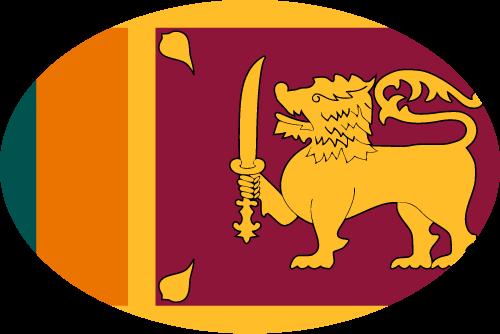 Vector flag of Sri Lanka - Oval