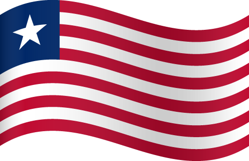 Vector flag of Liberia - Waving