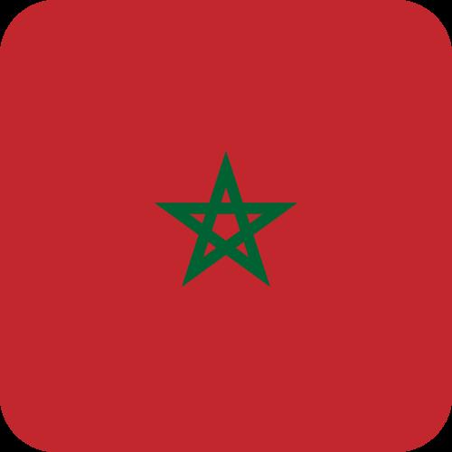 Vector flag of Morocco - Button