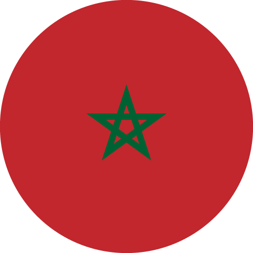 Vector flag of Morocco - Circle