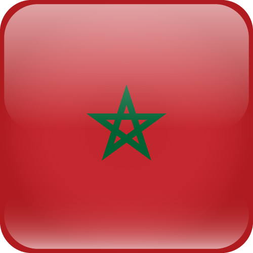 Vector flag of Morocco - Cube
