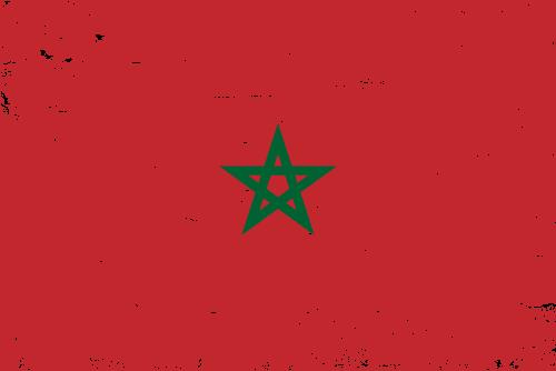 Vector flag of Morocco - Grunge
