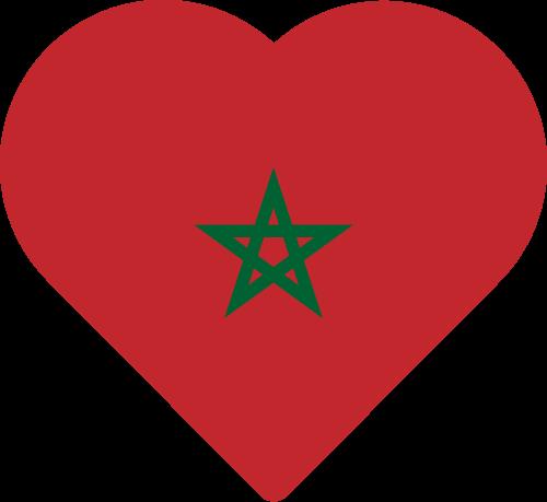 Vector flag of Morocco - Heart