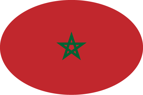 Vector flag of Morocco - Oval