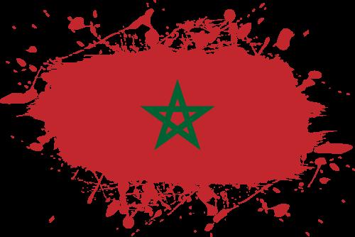Vector flag of Morocco - Ink Splat