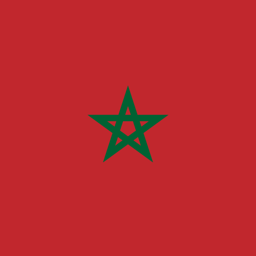 Vector flag of Morocco - Square