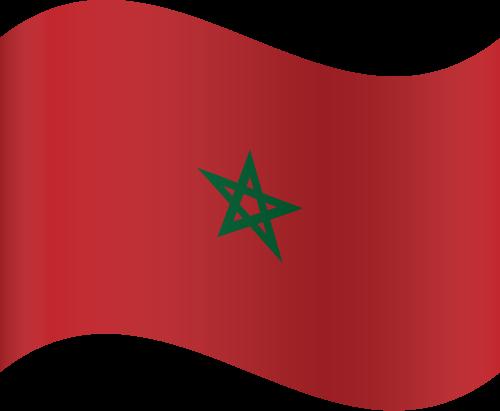 Vector flag of Morocco - Waving