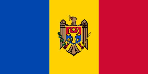 Vector flag of Moldova