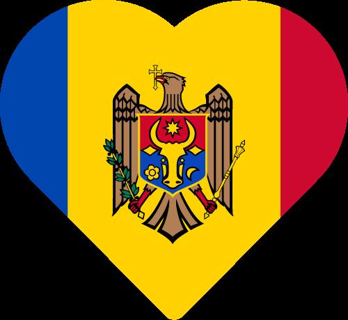 Vector flag of Moldova - Heart