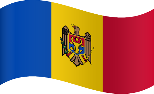 Vector flag of Moldova - Waving