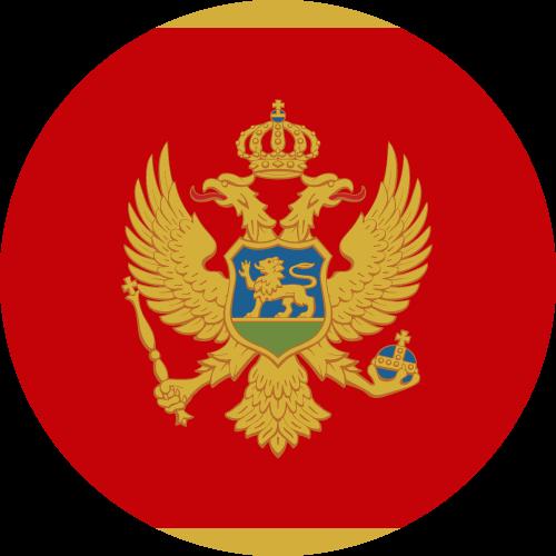 Vector flag of Montenegro - Circle