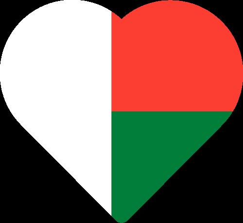 Vector flag of Madagascar - Heart
