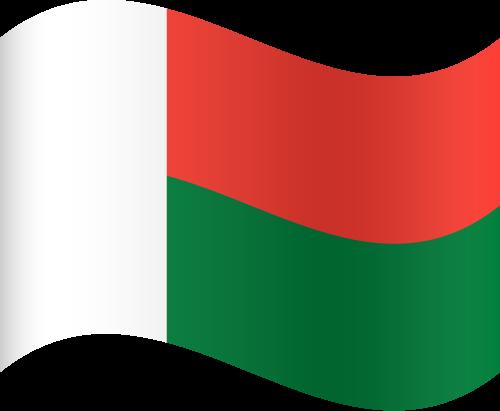 Vector flag of Madagascar - Waving