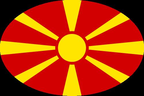 Vector flag of North Macedonia - Oval