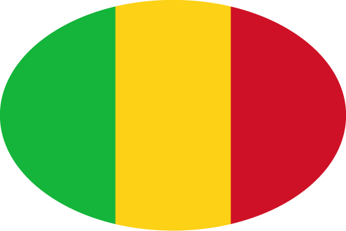 Vector flag of Mali - Oval