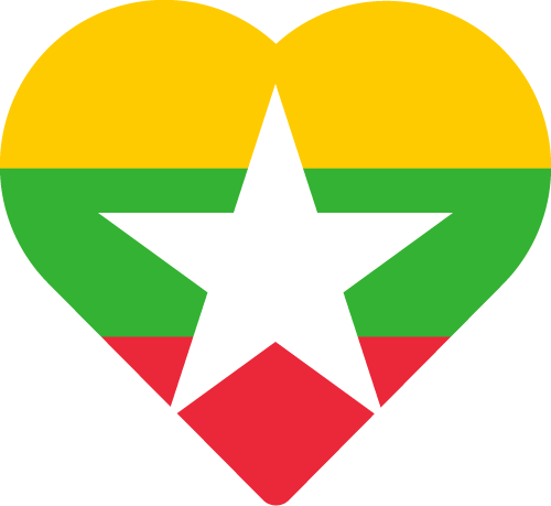 Vector flag of Myanmar - Heart