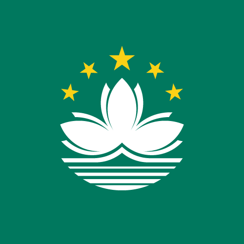 Vector flag of Macau - Square