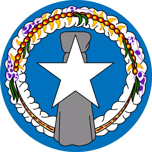 Vector flag of the Northern Mariana Islands - Circle