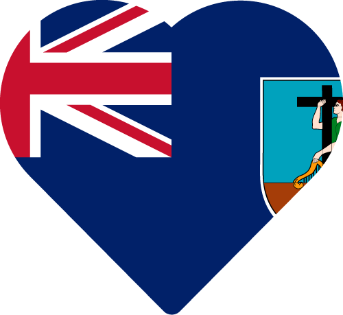 Vector flag of Montserrat - Heart