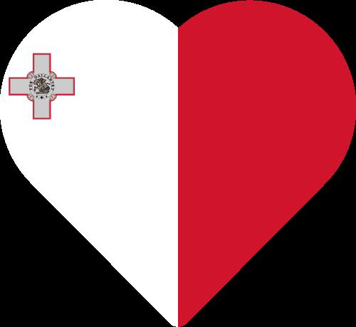 Vector flag of Malta - Heart