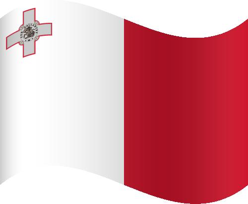 Vector flag of Malta - Waving