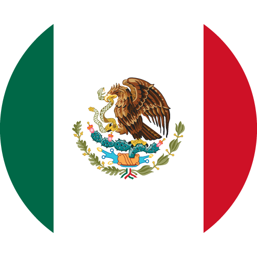 Vector flag of Mexico - Circle