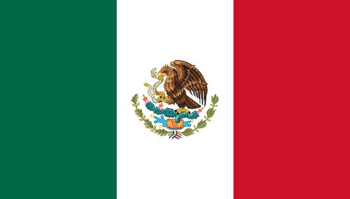 Vector flag of Mexico