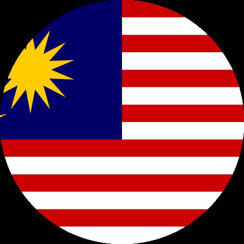 Vector flag of Malaysia - Circle
