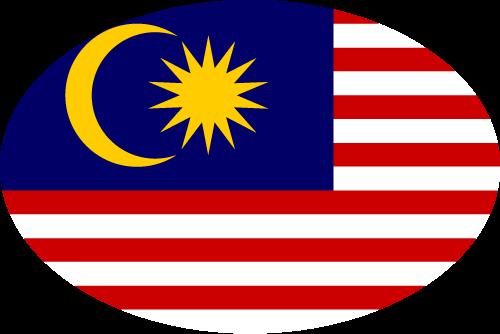 Vector flag of Malaysia - Oval