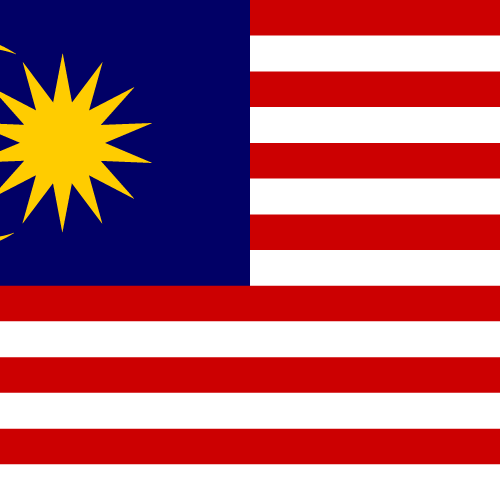 Vector flag of Malaysia - Square