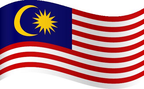 Vector flag of Malaysia - Waving