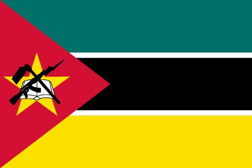 Vector flag of Mozambique