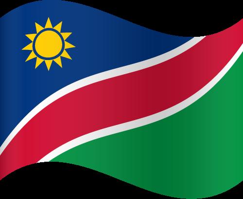 Vector flag of Namibia - Waving