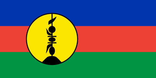 Vector flag of New Caledonia
