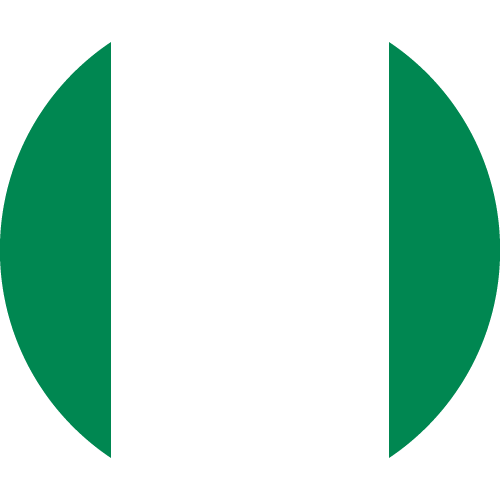 Vector flag of Nigeria - Circle