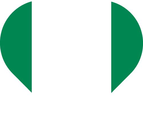 Vector flag of Nigeria - Heart