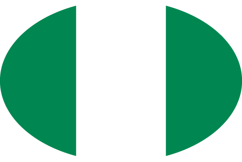 Vector flag of Nigeria - Oval