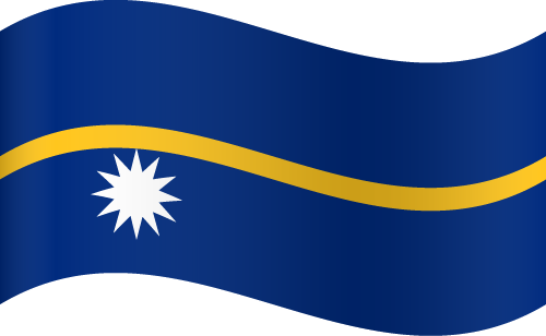 Vector flag of Nauru - Waving