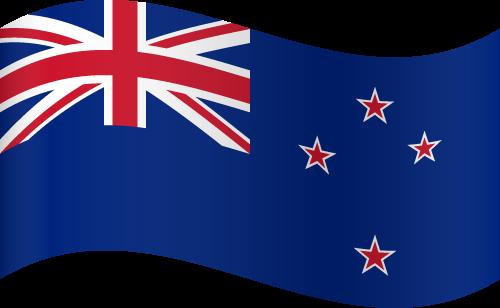 Vector flag of New Zealand - Waving