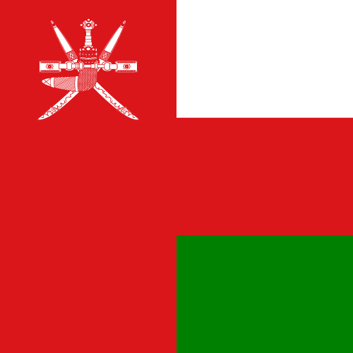 Vector flag of Oman - Square