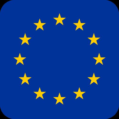 Vector flag of the European Union - Button
