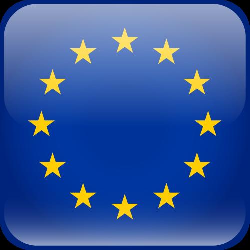 Vector flag of the European Union - Cube